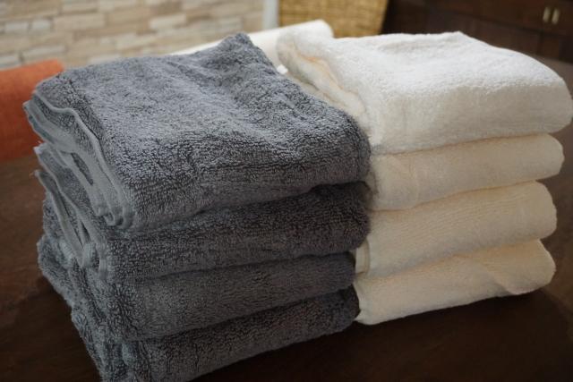 柔軟剤でふわふわのタオル