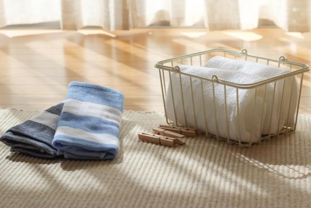 洗濯物のタオル