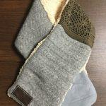 縮んだ手編みの服の残りで自分用のマフラーも作ってみる