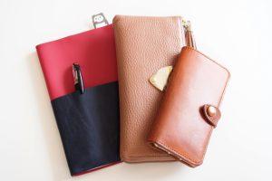 ピンクの財布と手帳