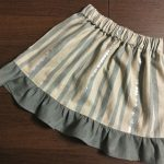 サクサク作れる子供用切り替えありの2段スカート