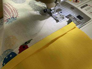 しずく型巾着ポーチを縫う